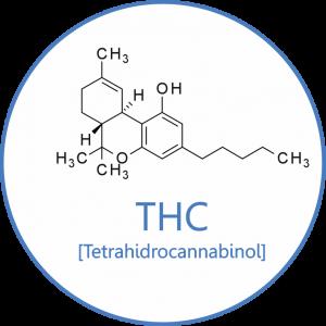 Molécula del Delta-9 Tetrahidrocannabinol.