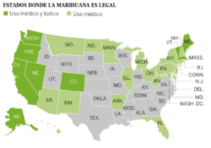 En Estados Unidos el cannabis es legal en al menos 30 estados del país